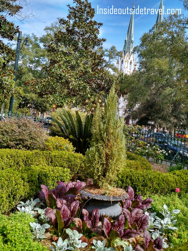 Garden with Church Spires