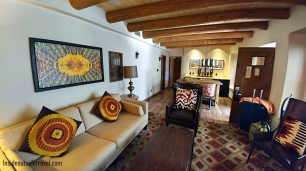 Santa Fe Hilton casita living room