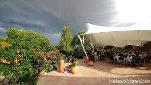 Santa Fe Opera Dinner gardens