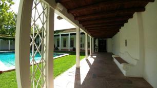 Los Poblanos courtyard pool