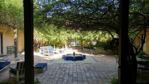 Los Poblanos courtyard