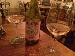 Los Poblanos Dinner wine