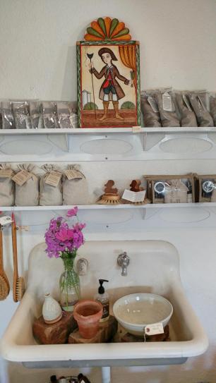 Los Poblanos Farm Shop display
